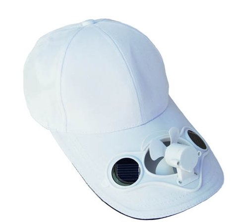Solar Powered Fan Hat W Solar Panel On The Cap Front
