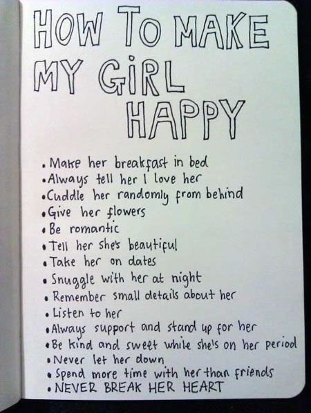 How Do You Make A Girl Happy