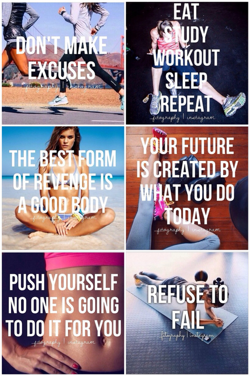 Collage of workout inspirationWorkout Inspiration