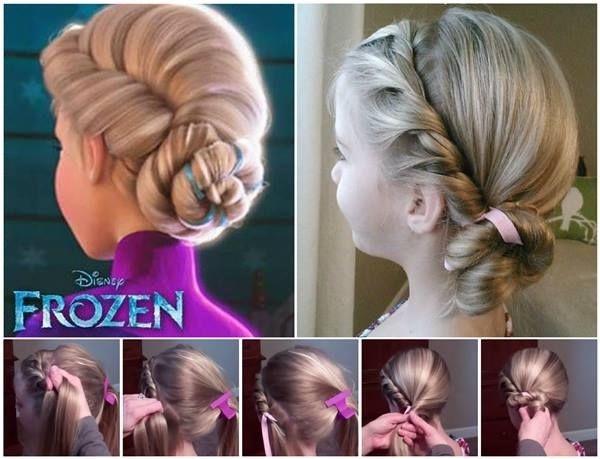 DIY Disney Elsa Frozen Coronation Hairstyle Tutorial Pictures - Hairstyle diy tumblr