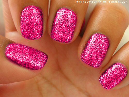 Sexy Pink Glitter Nails Pictures, Photos, and Images for ...