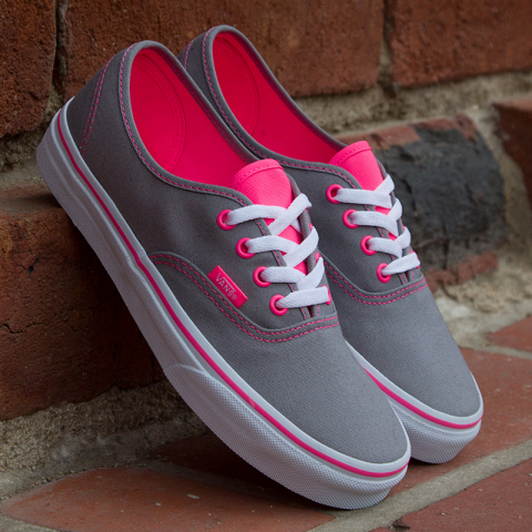 Pink And Grey Vans Pictures, Photos