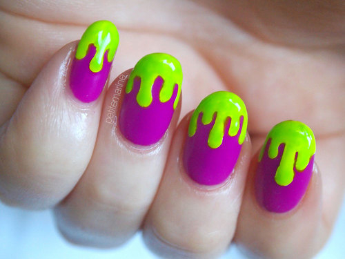 Purple And Green Drip Nails Pictures, Photos, and Images ...