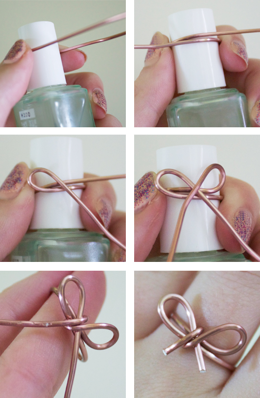 Diy bow ring pictures photos and images for facebook for Very simple wire craft projects