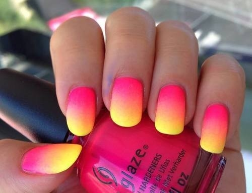 Yellow / Pink Nails Pictures, Photos, and Images for ...
