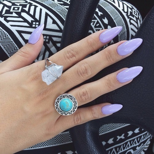 Lavender Stiletto Nails Lavender stiletto nailsLight Purple Stiletto Nails