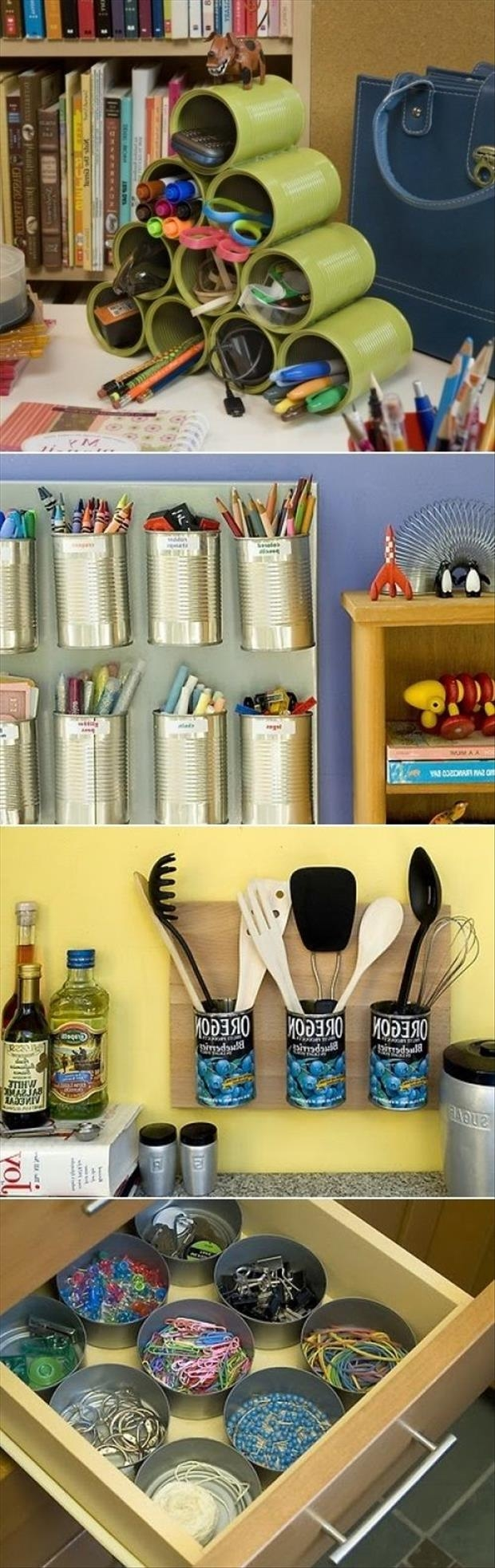Tin can craft organization pictures photos and images for facebook tumblr pinterest and twitter - Diy tin can ideas ...