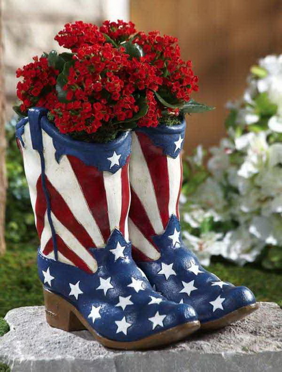 Patriotic Painted Cowboy Boot Planter Pictures, Photos, and Images ...