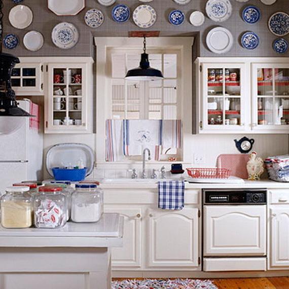 Red White Blue Kitchen