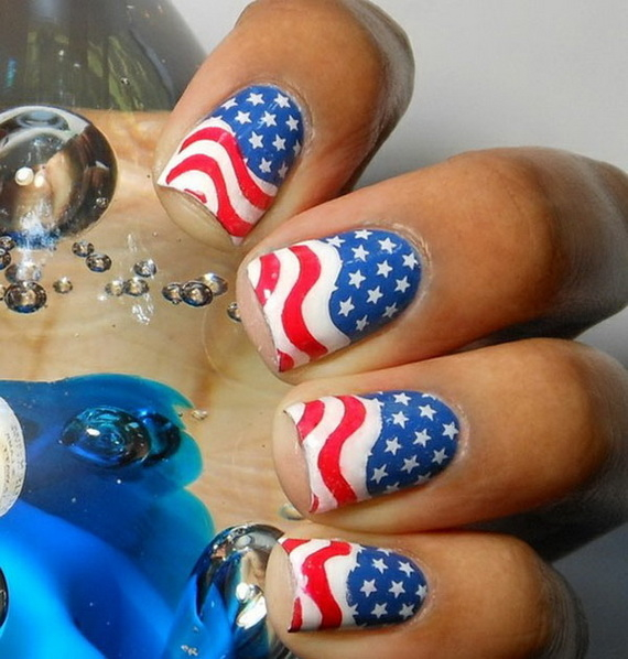 American flag nails pictures photos and images for for 4th of july nail art decoration flag
