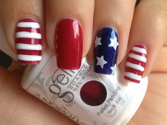 Red, White & Blue Nails - Red, White & Blue Nails Pictures, Photos, And Images For Facebook