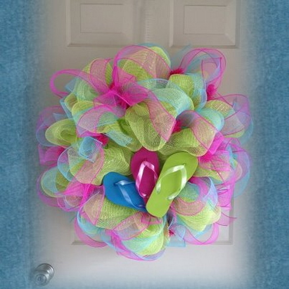 57f6c455b Summer Flip Flop Wreath Pictures