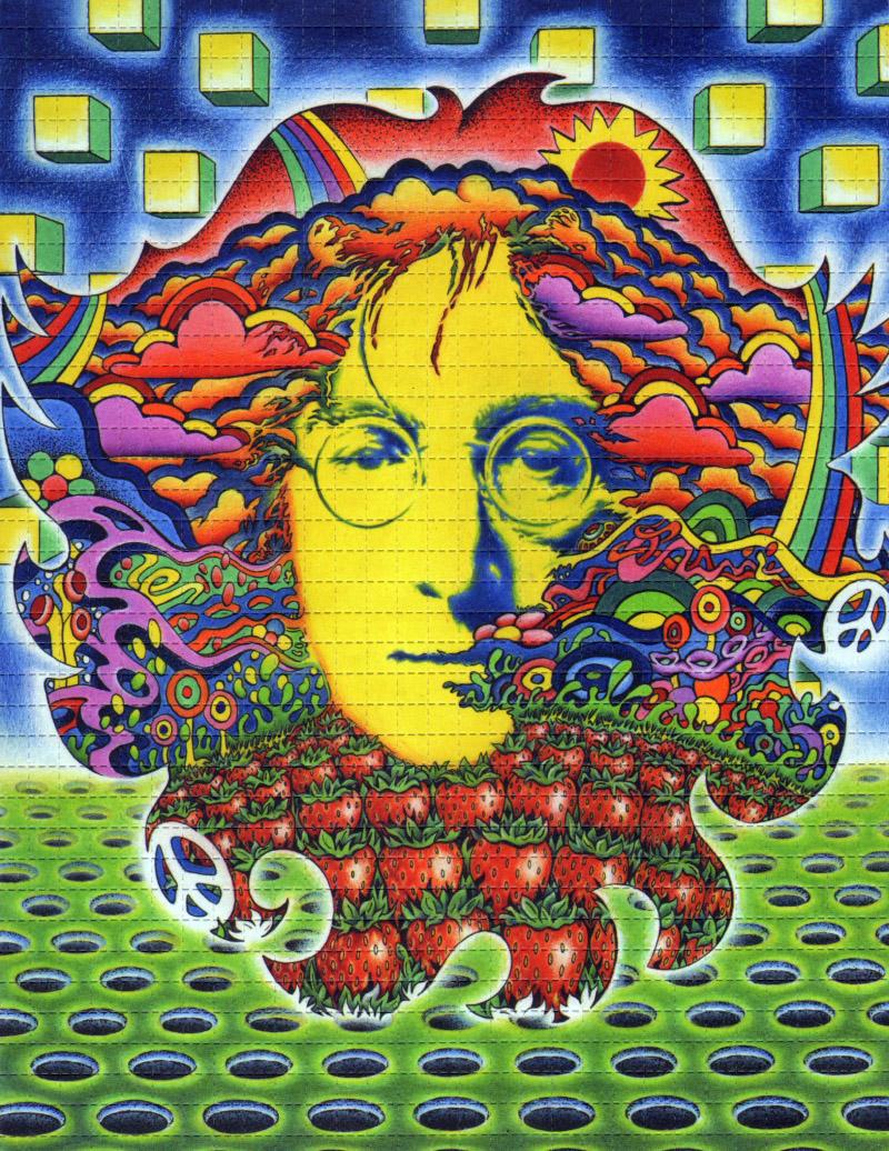 John Lennon Blotter Art