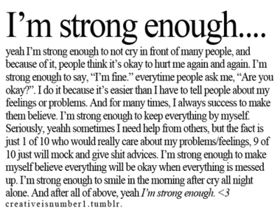 Im Strong Enough Pictures, Photos, and Images for Facebook, Tumblr