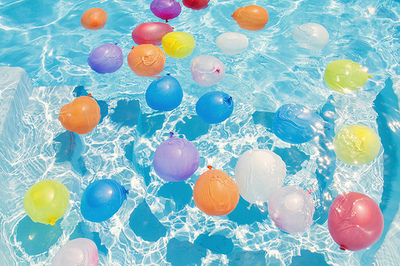 Balloons In The Pool Pictures Photos And Images For