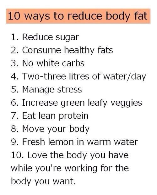 how reduce fat from body