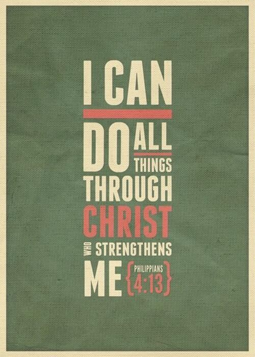I Can Do All Things Bible Quote