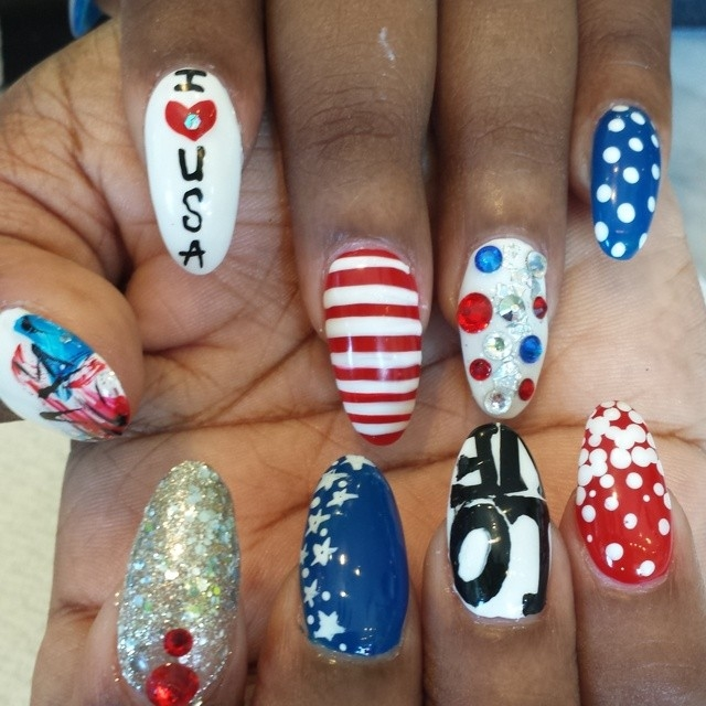 I Love The Usa Nail Art Pictures Photos And Images For Facebook
