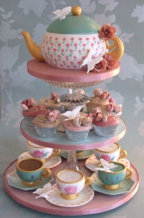 Tea Party Cake Images : Teapot Cake & Teacup Cupcakes Pictures, Photos, and Images ...