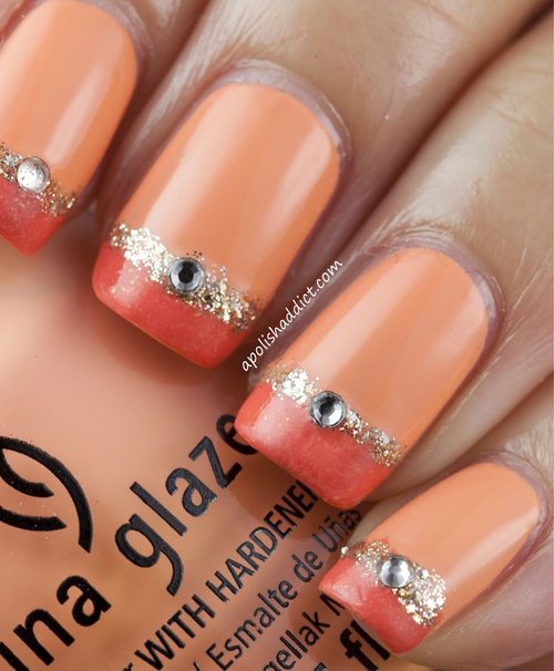 Orange jeweled nail art pictures photos and images for facebook orange jeweled nail art prinsesfo Image collections