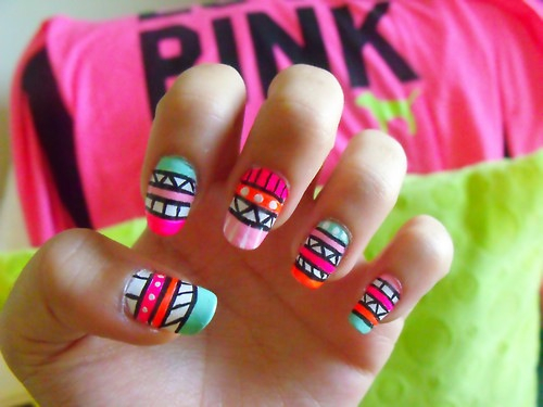 Tribal nail art pictures photos and images for facebook tumblr tribal nail art prinsesfo Gallery