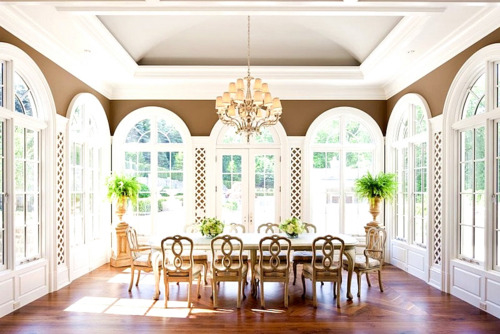 Sunroom as a dining room pictures photos and images for facebook tumblr pinterest and twitter - Sunroom dining room ...