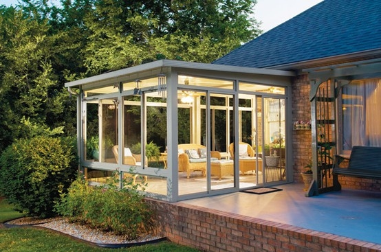 Sunroom house extension pictures photos and images for for Adding a room to a house