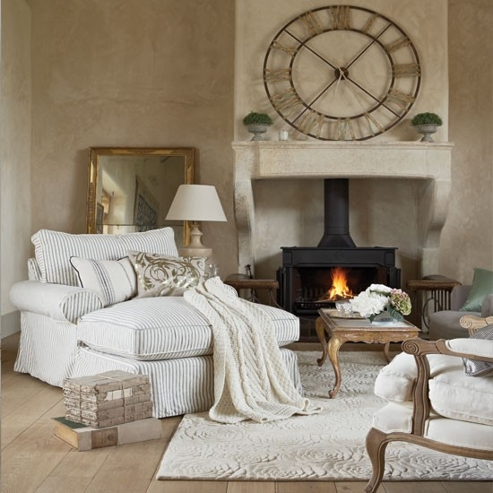 Cozy French Style Living Room Pictures, Photos, and Images ...