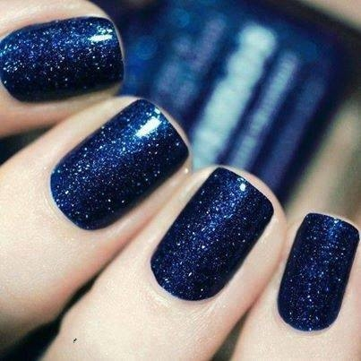 dark blue glitter nails pictures photos and images for