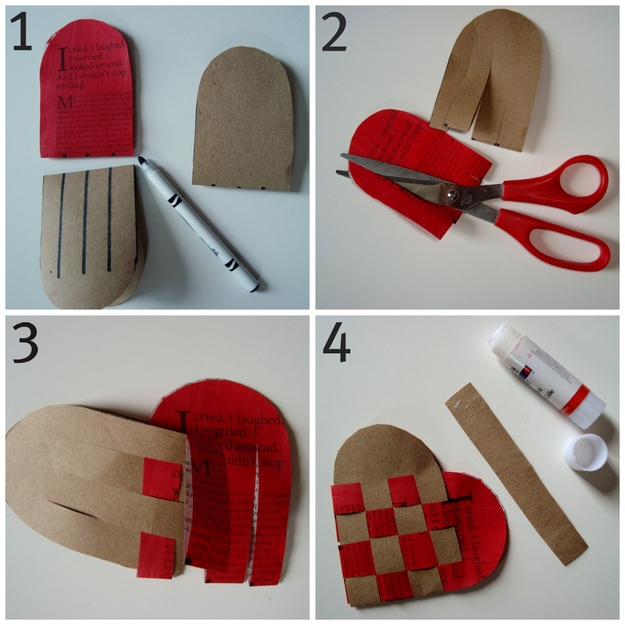 DIY Construction Paper Heart
