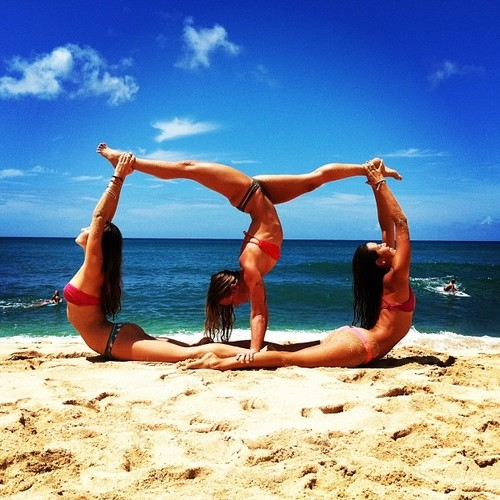 Gymnastics On The Beach Pictures, Photos, And Images For