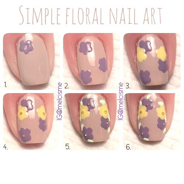 Diy simple floral nail art pictures photos and images for diy simple floral nail art prinsesfo Gallery