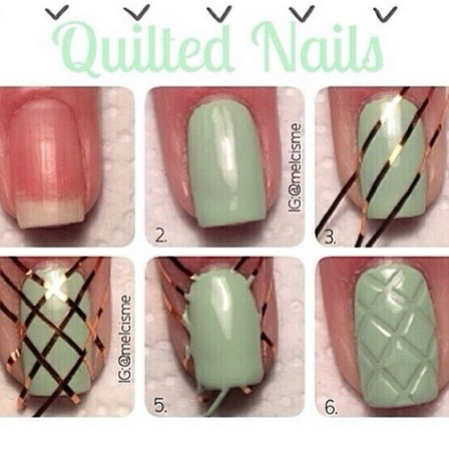 Diy quilted nails pictures photos and images for - Etagere murale pour vernis a ongle ...