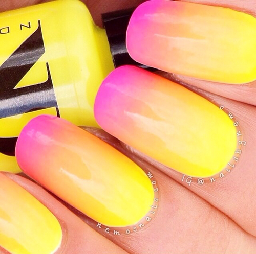 Neon Ombre Nails Pictures, Photos, and Images for Facebook, Tumblr ...