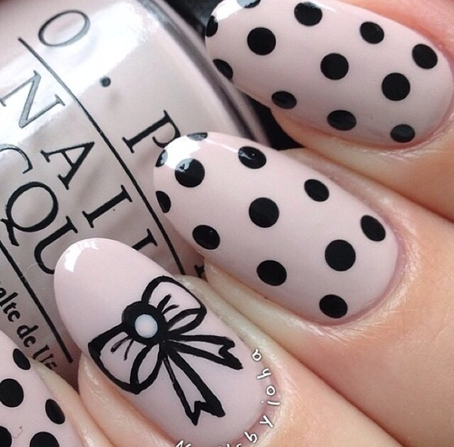 Bow polka dot nails pictures photos and images for facebook bow polka dot nails sciox Images