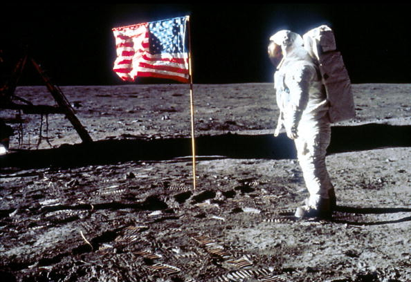 Usa flag and buzz aldrin pose on the moon pictures photos and usa flag and buzz aldrin pose on the moon voltagebd Image collections