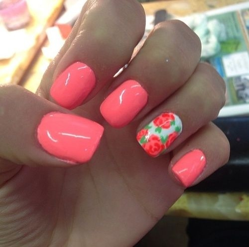 Pretty Coral Nails Pictures, Photos, And Images For