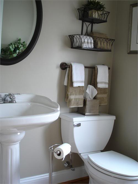 Bathroom storage bins pictures photos and images for for Beige bathroom bin