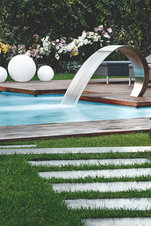 Modern outdoor pool pictures photos and images for for Garden pool facebook