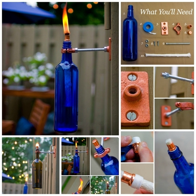 7 Diy Outdoor Lighting Ideas To Illuminate Your Summer: DIY Wine Bottle Torch Pictures, Photos, And Images For