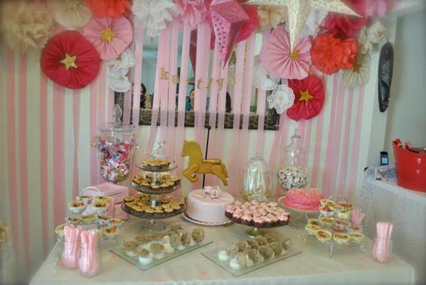 Pink And Gold Baby Shower Party Theme Pictures Photos