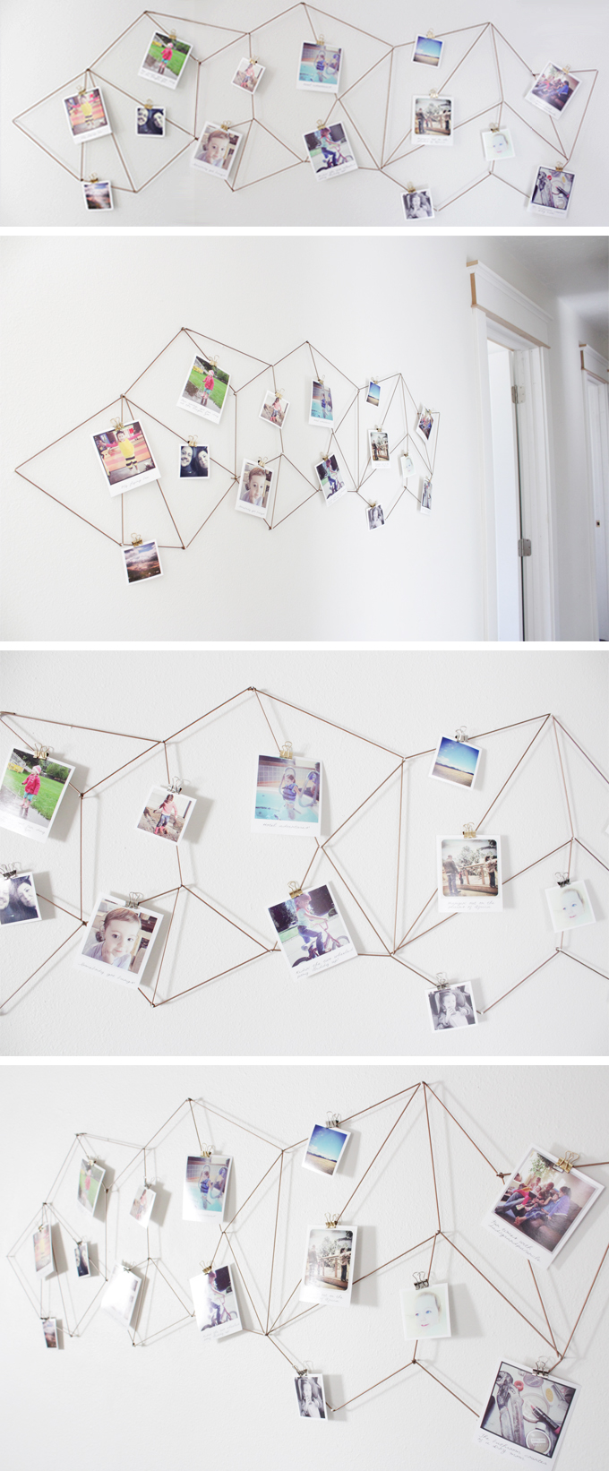 Geometric photo display pictures photos and images for - Fil pour accrocher des photos ...