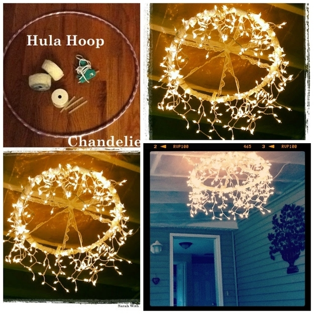 7 Diy Outdoor Lighting Ideas To Illuminate Your Summer: DIY Hula Hoop Chandelier Pictures, Photos, And Images For
