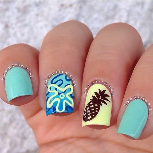 Spongebob Nails Pictures Photos And Images For Facebook Tumblr
