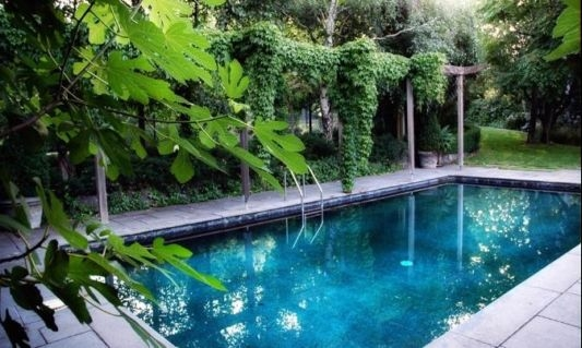 Lovely pool in a garden pictures photos and images for for Garden pool facebook