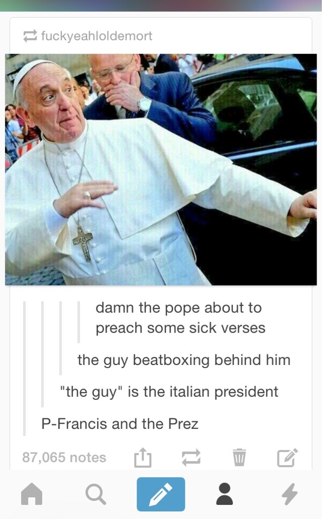 #274 Mori 111431-Pope-And-Iltalian-President-Beatboxing-And-Rapping