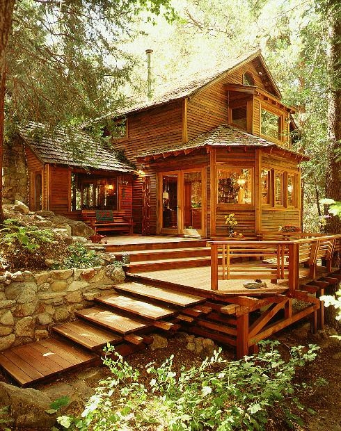 Cabin in the woods pictures photos and images for Picture perfect house