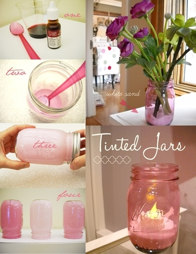 DIY Tinted Mason Jars Pictures, Photos, and Images for ...