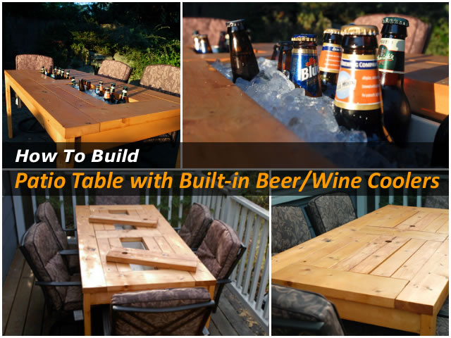 DIY Patio Table with Cooler - DIY Patio Table With Cooler Pictures, Photos, And Images For
