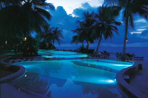 Blue Pool At Night Pictures Photos And Images For